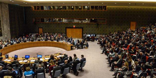 NEW YORK, NY - DECEMBER 08: The United Nations Security Council is seen during a meeting on the situation in Palestine at the United Nations headquarters on December 8, 2017 in New York City. Deadly clashes broke out in Jerusalem and the West Bank after US President Donald Trump's decision to recognize Jerusalem as the capital of Israel. (Photo by Stephanie Keith/Getty Images)