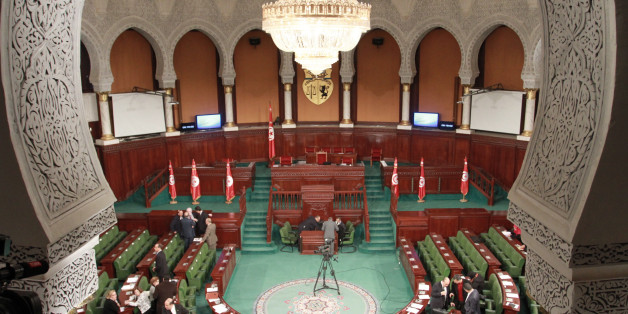 TUNIS, TUNISIA - JANUARY 11: Tunisian MPs take part in a session at the assembly of the representatives of the people (ARP) on January 11, 2016 in Tunis before a confidence vote to approve the new government. Tunisian Prime Minister Habib Essid announced a major cabinet reshuffle on January 6, 2016 as his government grapples with a growing jihadist threat and a feeble economy. PHOTOGRAPH BY Mohamed Krit / Barcroft MediaUK Office, London.T +44 845 370 2233W www.barcroftmedia.comUSA Office, New Yo