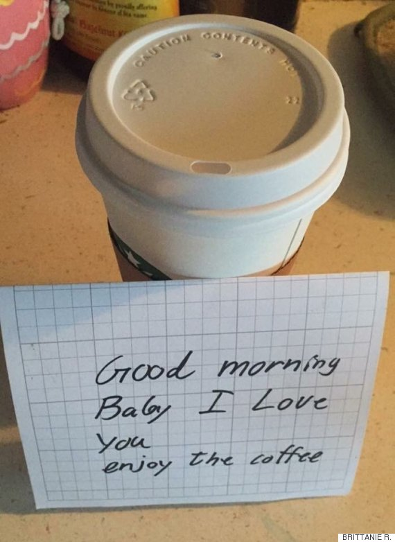 coffee with note