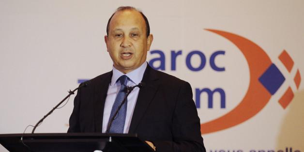 Le président de Maroc Telecom, Abdeslam Ahizoune lors d'une conférence à Rabat le 23 février 2015.