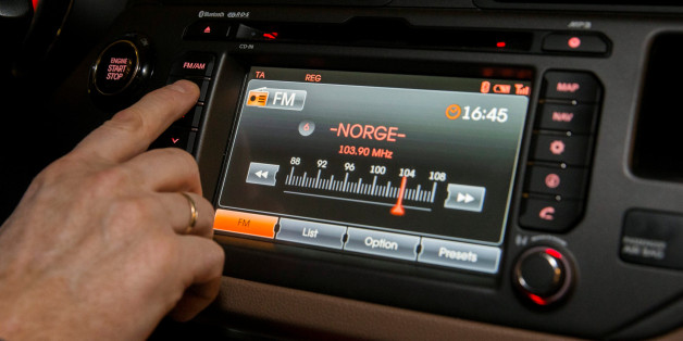FM radio is seen inside a car in Oslo, Norway January 10, 2017. By the end of this year the FM network will be shut down in all of Norway. NTB scanpix/ Berit Roald/ via REUTERS    ATTENTION EDITORS - THIS IMAGE WAS PROVIDED BY A THIRD PARTY. FOR EDITORIAL USE ONLY. NORWAY OUT. NO COMMERCIAL OR EDITORIAL SALES IN NORWAY.