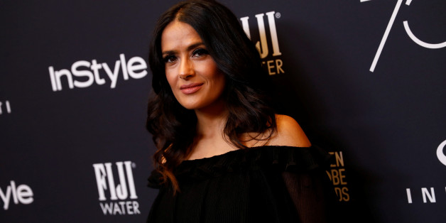 Actor Salma Hayek attends the Hollywood Foreign Press Association (HFPA) and InStyle celebration of the 75th Annual Golden Globe Awards season at Catch LA in West Hollywood, California, U.S. November 15, 2017. REUTERS/Patrick T. Fallon