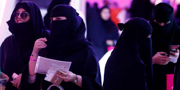 Saudi women take part in Glowork exhibition in Riyadh, Saudi Arabia September 28, 2017. Picture taken September 28, 2017. REUTERS/Faisal Al Nasser