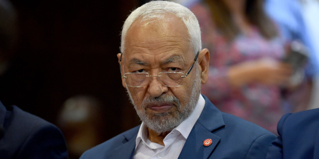 Ennahdha Islamist party leader Rached Ghannouchi attends a meeting in the capital Tunis with all political parties to decide on the date of the next municipal elections on September 18, 2017.   / AFP PHOTO / FETHI BELAID        (Photo credit should read FETHI BELAID/AFP/Getty Images)
