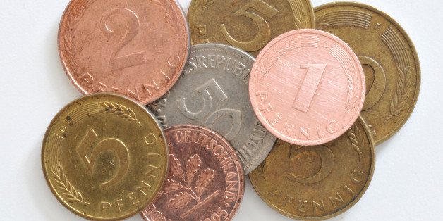 (GERMANY OUT) Germany - : German Mark, old coins, Pfennigs (Photo by Schöning/ullstein bild via Getty Images)
