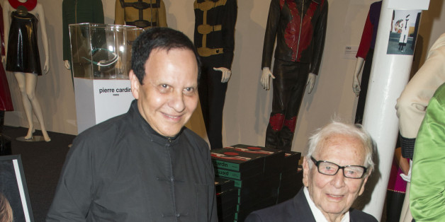 PARIS, FRANCE - OCTOBER 01:  Azzedine Alaia and Pierre Cardin attend the 'Pierre Cardin' By Jean-Pascal Hesse Book Signing At Pierre Cardin Museum  as part of the Paris Fashion Week Womenswear  Spring/Summer 2018 on October 1, 2017 in Paris, France.  (Photo by Laurent Viteur/Getty Images)