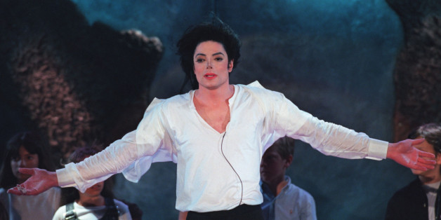 "Superstar Michael Jackson sings ""Earth Song"" during the World Music Awards ceremony at the Sporting Club in Monte Carlo, May 8. Jackson received five World Music Awards at the ceremony"
