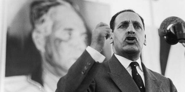 ALGERIA - CIRCA 1960:  Ferhat Abbas In Algeria In 1960 - Ferhat ABBAS, president of the GPRA (Provisional Government of the Algerian Republic) until the month of August 1961, in Tunis.  (Photo by Dominique BERRETTY/Gamma-Rapho via Getty Images)
