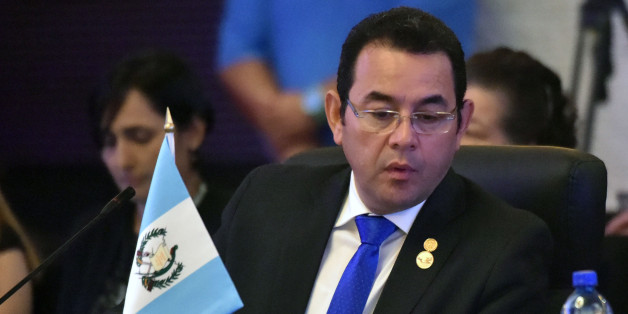 Guatemalan President Jimmy Morales, attends the inauguration ceremony of the Central American Integration System (SICA) summit in Veracruz, some 20 kilometres west of Panama City on December 14, 2017. / AFP PHOTO / RODRIGO ARANGUA        (Photo credit should read RODRIGO ARANGUA/AFP/Getty Images)