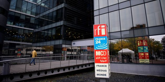 A picture shows the headquarters of French national audiovisual media company group, France Medias Monde (FMM), formerly named Audiovisuel Exterieur de la France (AEF), which includes Radio France Internationale (RFI), live news channel France 24 and Monte Carlo Doualiya (MCD), a French Arabic-speaking radio station, on November 27, 2017 in Issy-les-Moulineaux, a Paris' suburb.  / AFP PHOTO / Martin BUREAU        (Photo credit should read MARTIN BUREAU/AFP/Getty Images)