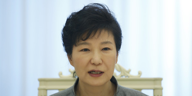 "South Korean President Park Geun-hye speaks during an interview with Reuters at the Presidential Blue House in Seoul September 16, 2014. Park, thwarted so far in ambitious plans to begin the process of reunifying the Korean peninsula, said the door is open for talks with the North during the upcoming U.N. General Assembly. However, Park said in the interview that Pyongyang must show sincerity in seeking a constructive dialog and ""walk the talk"" in taking up South Korea's offers for engagement ai"