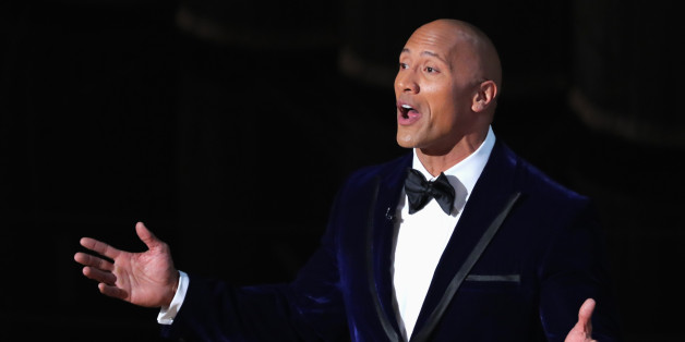 "89th Academy Awards - Oscars Awards Show - Hollywood, California, U.S. - 26/02/17 - Actor Dwayne ""The Rock"" Johnson gestures. REUTERS/Lucy Nicholson"