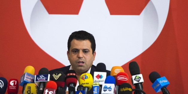 TUNIS, TUNISIA - DECEMBER 05: Presidential candidate Slim Riahi gives a speech during a press release for the presidential elections to be held on 28th of December, at Sheraton Hotel in Tunis, Tunisia on December 05, 2014. (Photo by Ahmet zgi/Anadolu Agency/Getty Images)