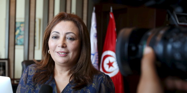 Wided Bouchamaoui, president of Tunisia's Employers' Organisation (UTICA) and a member of Tunisia's National Dialogue Quartet, talks to journalists in her office in Tunis, Tunisia October 9, 2015.  Tunisia's National Dialogue Quartet won the Nobel Peace Prize on Friday for helping build democracy in the birthplace of the Arab Spring, an example of peaceful transition in a region otherwise struggling with violence and upheaval.  REUTERS/Zoubeir Souissi