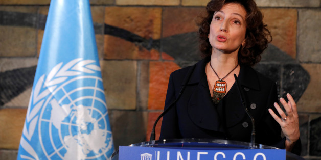 Newly elected Director-General of the United Nations Educational, Scientific and Cultural Organization (UNESCO) Audrey Azoulay speaks at a news conference during the 39th General Conference at the organisation's headquarters in Paris, France November 10, 2017. REUTERS/Philippe Wojazer