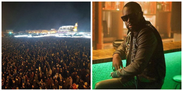 Marrakech: La place Jemaa El Fna noire de monde pour Maître Gims