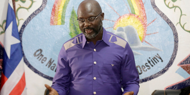 President-elect George Weah of Coalition for Democratic Change (CDC) attends a news conference at party headquarters, after the announcement of the presidential election results, in Monrovia, Liberia, December 30, 2017. REUTERS/Thierry Gouegnon