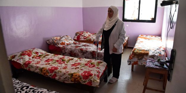 Samia Gasmi, the head of the 'Nur Doha' cancer charity, stands in a room of the association in the town of Ghardaia, some 600 kilometres south of Algiers on October 30, 2017. Hundreds of Algerian women have been abandoned by their husbands or fiances after being diagnosed with breast cancer, a charity says. / AFP PHOTO / RYAD KRAMDI        (Photo credit should read RYAD KRAMDI/AFP/Getty Images)