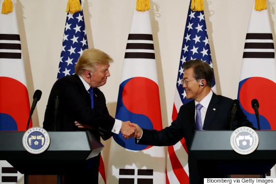 trump moon korea