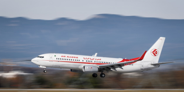 A Boeing Boeing 737-8D6 commercial plane registration 7T-VKQ of Air Algerie is seen landing at Geneva Airport on November 20, 2017 in Geneva. / AFP PHOTO / Fabrice COFFRINI        (Photo credit should read FABRICE COFFRINI/AFP/Getty Images)