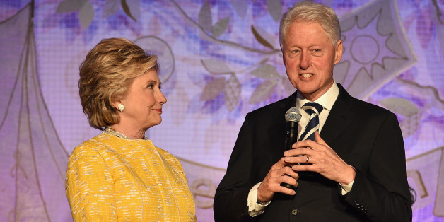 NEW YORK, NY - MAY 23:  Former United States Secretary of State Hillary Clinton (L) and President Bill Clinton speak onstage during the SeriousFun Children's Network Gala at Pier 60 on May 23, 2017 in New York City.  (Photo by Kevin Mazur/Getty Images for SeriousFun)