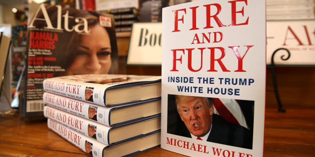 CORTE MADERA, CA - JANUARY 05:  Copies of the book 'Fire and Fury' by author Michael Wolff are displayed on a shelf at Book Passage on January 5, 2018 in Corte Madera, California. A controversial new book about the inner workings of the Trump administration hit bookstore shelves nearly a week earlier than anticipated after lawyers for Donald Trump issued a cease and desist letter to publisher Henry Holt & Co.  (Photo by Justin Sullivan/Getty Images)