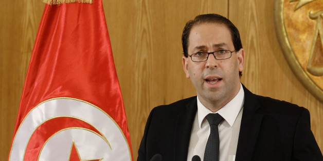 Tunisia's Prime Minister-designate Youssef Chahed speaks during a news conference after his meeting with Tunisia's President Beji Caid Essebsi (not pictured) in Tunis, Tunisia August 20, 2016. REUTERS/Zoubeir Souissi