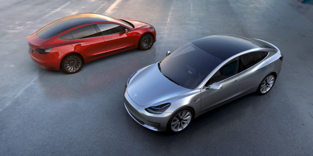 Tesla Motors' mass-market Model 3 electric cars are seen in this handout picture from Tesla Motors on March 31, 2016. REUTERS/Tesla Motors/Handout via Reuters/File Photo ATTENTION EDITORS - THIS PICTURE WAS PROVIDED BY A THIRD PARTY. REUTERS IS UNABLE TO INDEPENDENTLY VERIFY THE AUTHENTICITY, CONTENT, LOCATION OR DATE OF THIS IMAGE. IT IS DISTRIBUTED EXACTLY AS RECEIVED BY REUTERS, AS A SERVICE TO CLIENTS. FOR EDITORIAL USE ONLY. NOT FOR SALE FOR MARKETING OR ADVERTISING CAMPAIGNS. TPX IMAGES OF