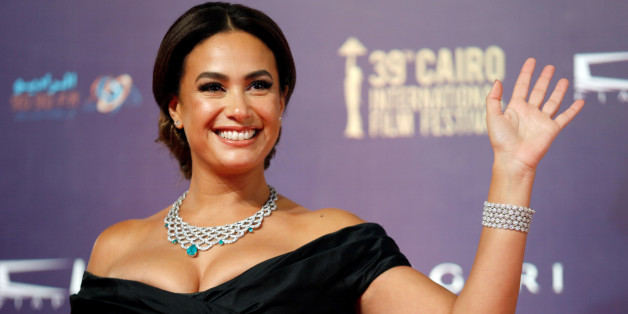 Tunisian actor Hend Sabry poses during the opening of the 39th Cairo International Film Festival in Cairo, Egypt November 21, 2017. REUTERS/Amr Abdallah Dalsh