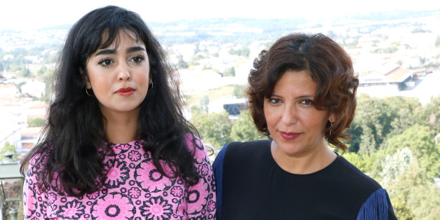 ANGOULEME, FRANCE - AUGUST 24:  (L-R) Team of the movie 'La belle et la meute', actress Mariam Al Ferjani and director Kaouther Ben Hania attend the 10th Angouleme French-Speaking Film Festival : Day Three, on August 24, 2017 in Angouleme, France.  (Photo by Bertrand Rindoff Petroff/Getty Images)