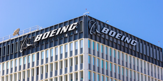 Los Angeles, United States - March 9, 2015: Boeing manufactuing facility. Boeing manufactures and sells aircraft, rotorcraft, rockets and satellites. It is the second-largest defense contractor in the world.