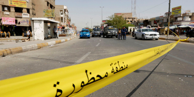 Un cordon de police après un attentat suicide à Bagdad, le 27 septembre 2016 (photo d'illustration)