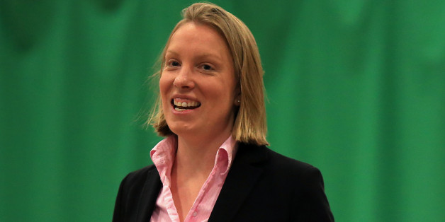 NORWICH, ENGLAND - MAY 28:  Sports Minister Tracey Crouch MP plays table tennis during her visit to the Sport England 'Fit for Fun' project at the University of East Anglia on May 28, 2015 in Norwich, England. (Photo by Stephen Pond/Getty Images for Sport England)