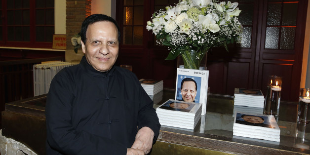 PARIS, FRANCE - OCTOBER 02:  Azzedine Alaia attends the private Dinner hosted by Surface Magazine And Azzedine Alaia Private Dinner as part of Paris Fashion Week Spring/Summer 2017on October 2, 2016 in Paris, France.  (Photo by Bertrand Rindoff Petroff/Getty Images for Surface Magazine)