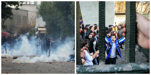 Image de gauche: Zoubeir Souissi/Reuters... image de droite: Stringer/Anadoly Agency/Getty images