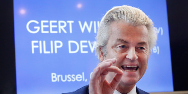 Far-right Dutch politician Geert Wilders addresses a press conference in Brussels, Belgium, November 3, 2017.  REUTERS/Yves Herman
