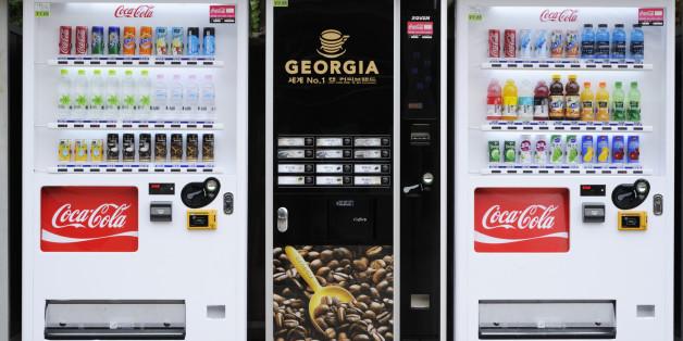 Seoul, Korea - September 11,2011: Vending machines for the beverage in Seoul, Korea.