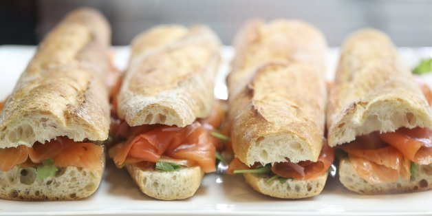 TORONTO, ON - January 9: Smoked salmon sandwich at City Canteen, an artisanal market located at 2279 Bloor Street West.        (Randy Risling/Toronto Star via Getty Images)
