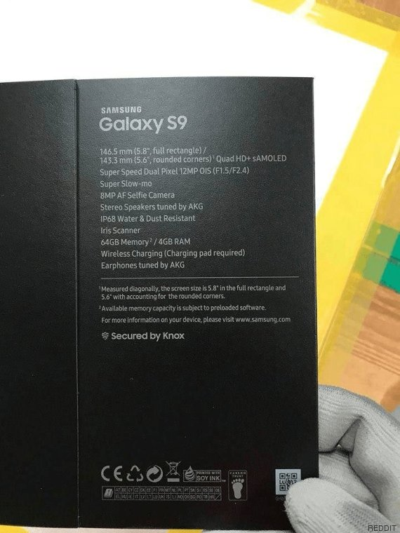 samsung s9 box leak
