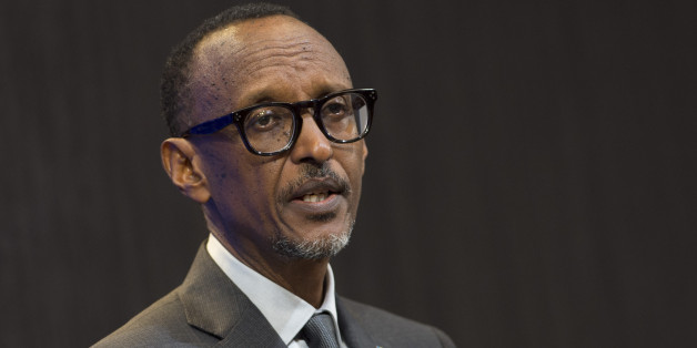 Rwandan President Paul Kagame speaks during a discussion on 'Flagship Reforms for a More Effective African Union,' at the Brookings Institution in Washington, DC, September 21, 2017. / AFP PHOTO / SAUL LOEB        (Photo credit should read SAUL LOEB/AFP/Getty Images)