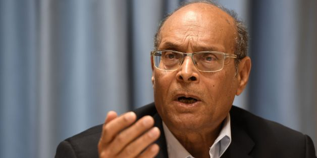 Former interim Tunisian president Moncef Marzouki speaks during a joint press conference with a Yemeni journalist and Nobel Peace Prize laureate at the UN headquarters in Geneva on March 2, 2017. / AFP PHOTO / PHILIPPE DESMAZES        (Photo credit should read PHILIPPE DESMAZES/AFP/Getty Images)