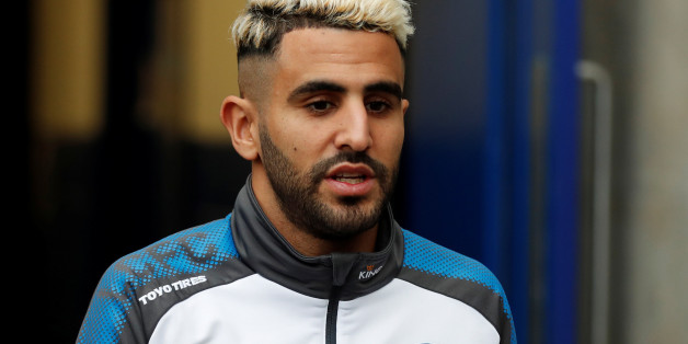 "Soccer Football - Premier League - Leicester City vs Watford - King Power Stadium, Leicester, Britain - January 20, 2018   Leicester City's Riyad Mahrez arrives at the stadium before the match    Action Images via Reuters/Matthew Childs    EDITORIAL USE ONLY. No use with unauthorized audio, video, data, fixture lists, club/league logos or ""live"" services. Online in-match use limited to 75 images, no video emulation. No use in betting, games or single club/league/player publications.  Please cont"