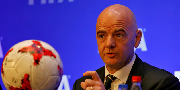 FIFA President Gianni Infantino speaks during a news conference after a FIFA Council meeting in Kolkata, India, October 27, 2017. REUTERS/Rupak De Chowdhuri