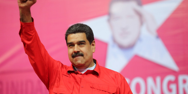 Venezuela's President Nicolas Maduro gestures during a congress plenary of the Venezuela's United Socialist Party (PSUV) in Caracas, Venezuela February 2, 2018. Miraflores Palace/Handout via REUTERS ATTENTION EDITORS - THIS PICTURE WAS PROVIDED BY A THIRD PARTY
