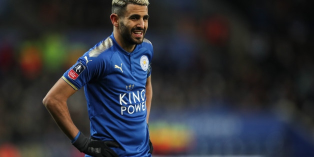 LEICESTER, ENGLAND - JANUARY 16: Riyad Mahrez of Leicester City during The Emirates FA Cup Third Round Replay match between Leicester City and Fleetwood Town at The King Power Stadium on January 16, 2018 in Leicester, England. (Photo by Robbie Jay Barratt - AMA/Getty Images)