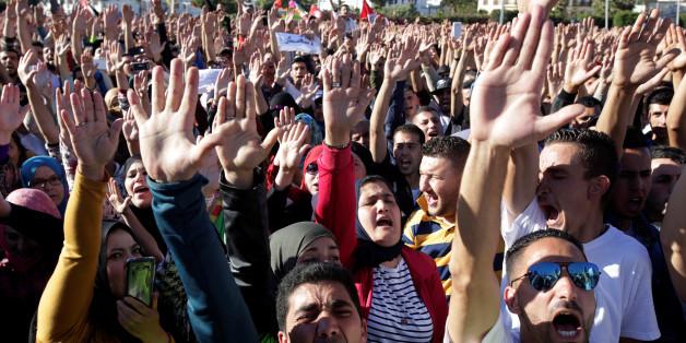 Manifestation à Al Hoceima, en mai 2017. REUTERS/Youssef Boudlal