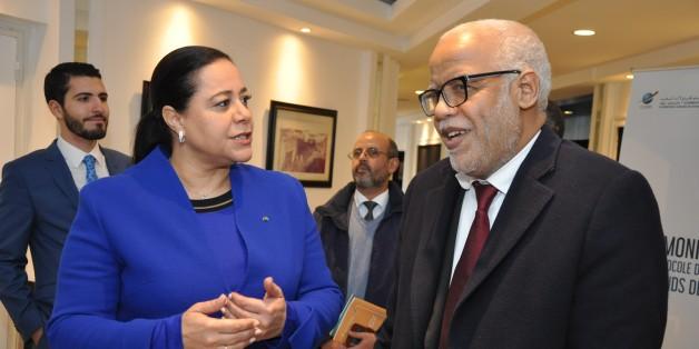 Le présidente de la Confédération générale des entreprises du Maroc (CGEM), Miriem Bensalah Chaqroun et le ministre du Travail et de l'insertion professionnelle, Mohamed Yatim