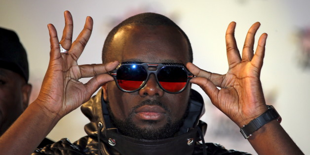 Congolese rapper Maitre Gims arrives for the NRJ Music Awards ceremony at the Festival Palace in Cannes, France, November 7, 2015.  REUTERS/Eric Gaillard