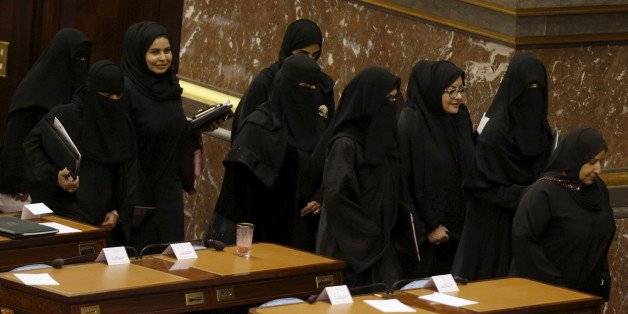 Saudi women members of the Saudi Shura Council attend a session chaired by Saudi Arabia's King Salman, in Riyadh December 23, 2015. REUTERS/Faisal Al Nasser