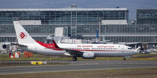 Frankfurt, Germany - March 30, 2017: Air Algerie Boeing 737-8D6 at the Frankfurt international airport